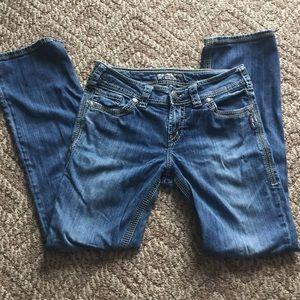 """Silver suki 17"""" surplus jeans w29/l31"""